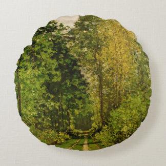 Chemin boisé de Claude Monet | Coussins Ronds