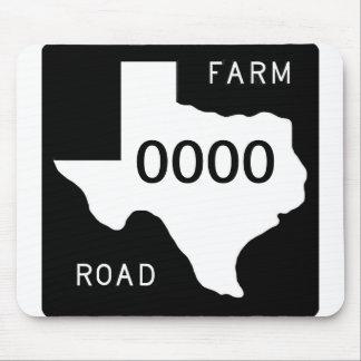 Chemin d exploitation du Texas Tapis De Souris
