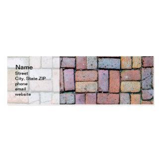 Chemin de brique carte de visite petit format