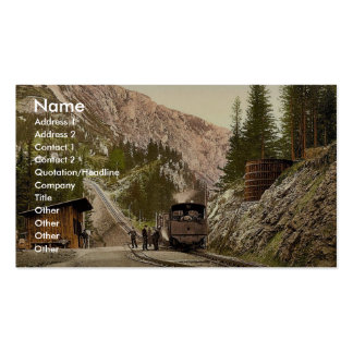 Chemin de fer de dent vers le haut du Schneeberg,  Modèles De Cartes De Visite