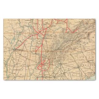 Chemin de fer de Louisville et de Nashville Papier Mousseline