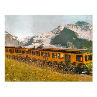 Chemin de fer de montagne, région de Jungfrau Cartes Postales