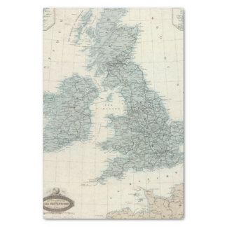 Chemin de fer et canaux des îles britanniques papier mousseline