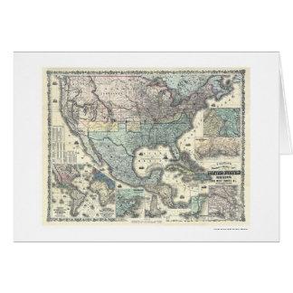 Chemin de fer et carte militaire Etats-Unis 1862