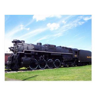 Chemin de fer locomotif #757 de plat de nickel de carte postale