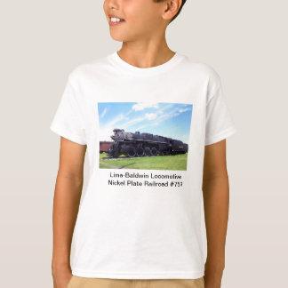 Chemin de fer locomotif #757 de plat de nickel de t-shirt