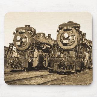 Chemin de fer vintage de locomotives de moteurs tapis de souris