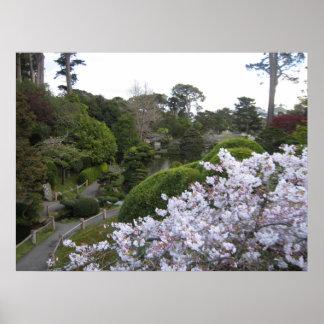Chemin de jardin de thé posters