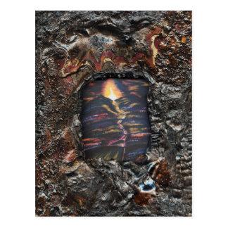 Chemin de la vie brûlé offre cartes postales