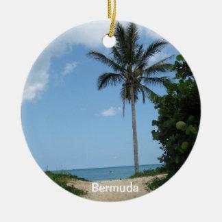 Chemin de plage, Bermudes Ornement Rond En Céramique