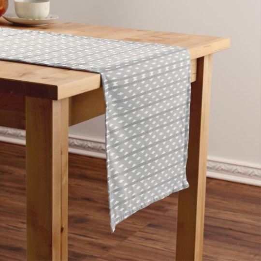 Chemin De Table Court Chemin de table de 35,5 cm x 183 cm Pattern Gris