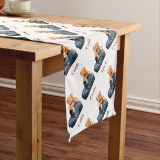 Chemin De Table Court Chiot mignon de mastiff d'iCuddle