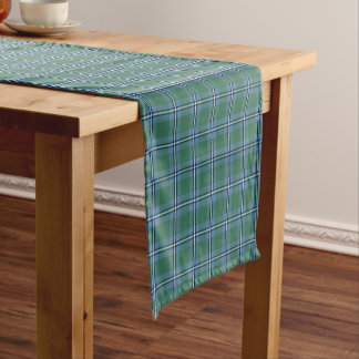 Chemin De Table Court Clan tartan écossais bleu et vert d'Irvine