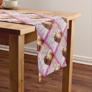 Chemin De Table Court Conception de chien de bouffe de bouffe - poème de