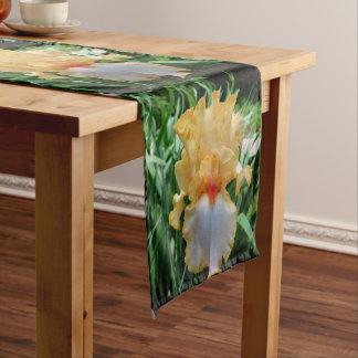 """Chemin De Table Court Iris jaune 14"""" botanique X 72"""" coureur de Tableau"""