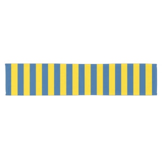 Chemin De Table Court Les lignes de rayures de drapeau de la Suède