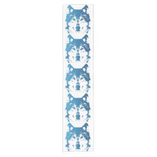 Chemin De Table Court Loup de bleu glacier d'illustration