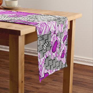 Chemin De Table Court Mélange abstrait unique 2D de motif