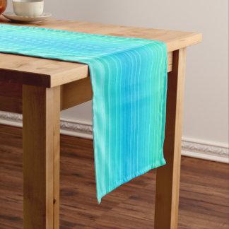 Chemin De Table Court Motif abstrait de vert bleu de turquoise de pastel