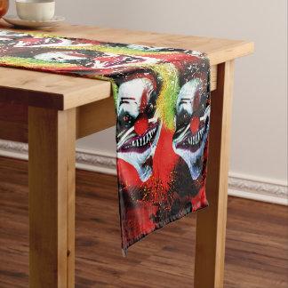 Chemin De Table Court motif déplaisant de clown d'horreur de Halloween