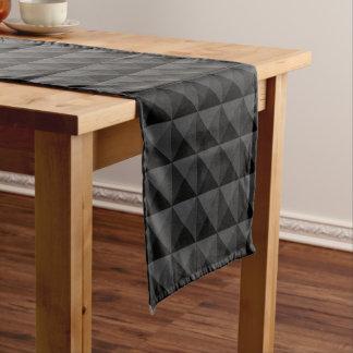 Chemin De Table Court Motif géométrique moderne de carré noir