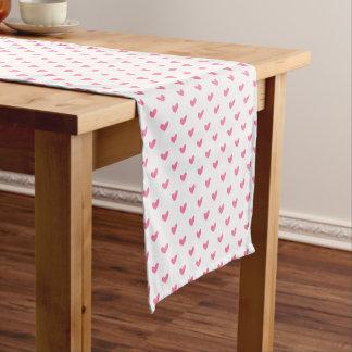 Chemin De Table Court Motif minuscule blanc rose élégant de coeur de