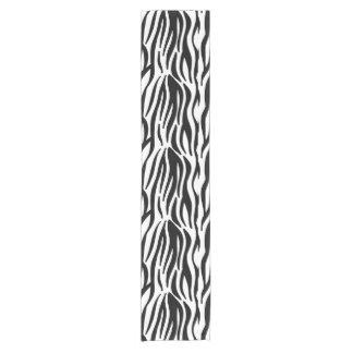 Chemin De Table Court Motif noir et blanc moderne de rayures de zèbre