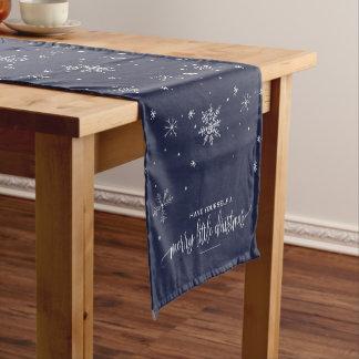 Chemin De Table Court Noël de flocon de neige de marine