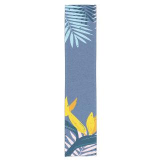 Chemin De Table Court Paradis tropical bleu moderne