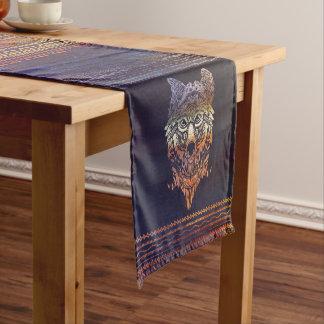 Chemin De Table Court Peinture tribale de loup translucide