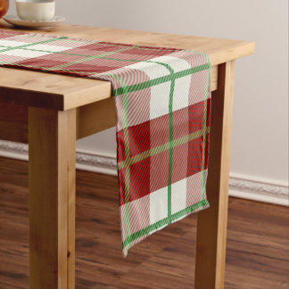 Chemin De Table Court Plaid de tartan rustique de vacances de Noël de