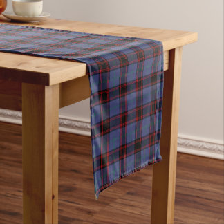 Chemin De Table Court Tartan d'écossais de bleu royal de Rutherford de