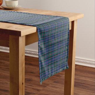 Chemin De Table Court Tartan d'écossais de vert de tonnelier de clan