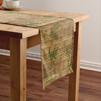 Chemin De Table Court Tissu en bambou de Tapa