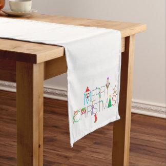 Chemin De Table Court Typographie de Joyeux Noël