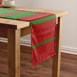 Chemin De Table Court Vacances rouges et vertes de Noël de tricot