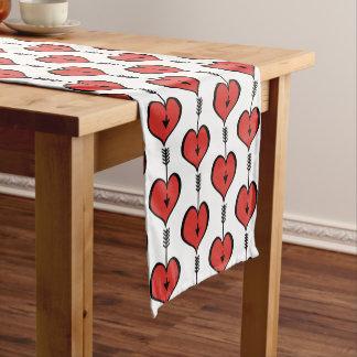 """Chemin De Table Court Vous aimant le rouge 14"""" de coeur X 72"""" ajournent"""
