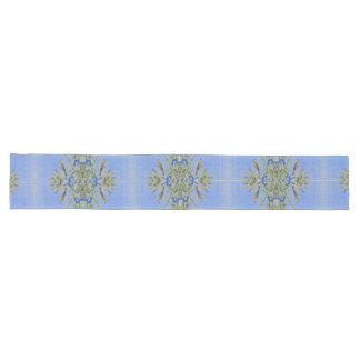 Chemin De Table Long Coureur bleu en bambou de Tableau de fleurs