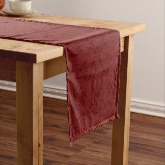 Chemin De Table Long Fleury rouge