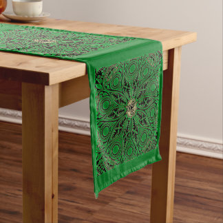 Chemin De Table Long Mandala vert de Kelly Triskele