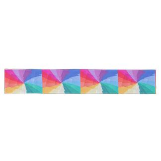 Chemin De Table Long vortex multicolore sur des coureurs de table