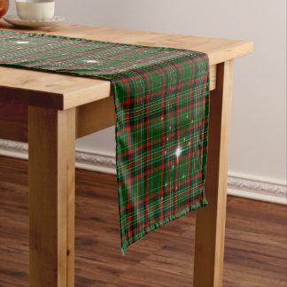 Chemin De Table Moyen Beau plaid de Noël, rouge et vert, étincelle
