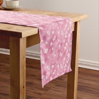 Chemin De Table Moyen Ginkgos et coureur rose-clair de Tableau de fleurs
