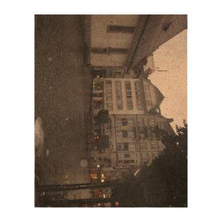 Chemin en pierre de pavé en luzerne papier en liège