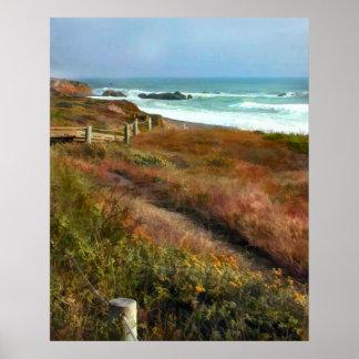 Chemin vers l'océan Shoreline Posters