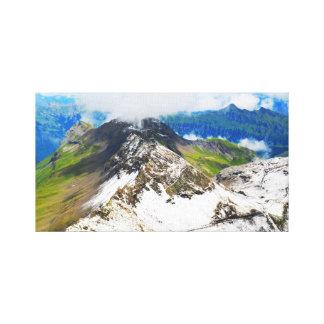 Chemins dans les alpes suisses toile