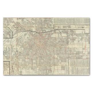 Chemins de fer de carte et de rue de sécurité à papier mousseline