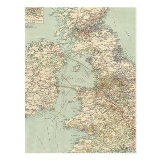 Chemins de fer d'îles britanniques cartes postales