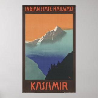 Chemins de fer indiens d'état du Cachemire Posters