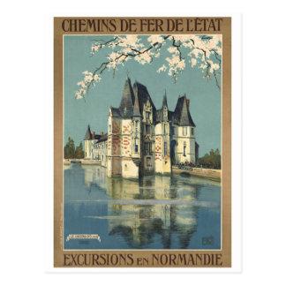 Chemins de fer vintages de Normandie France Carte Postale